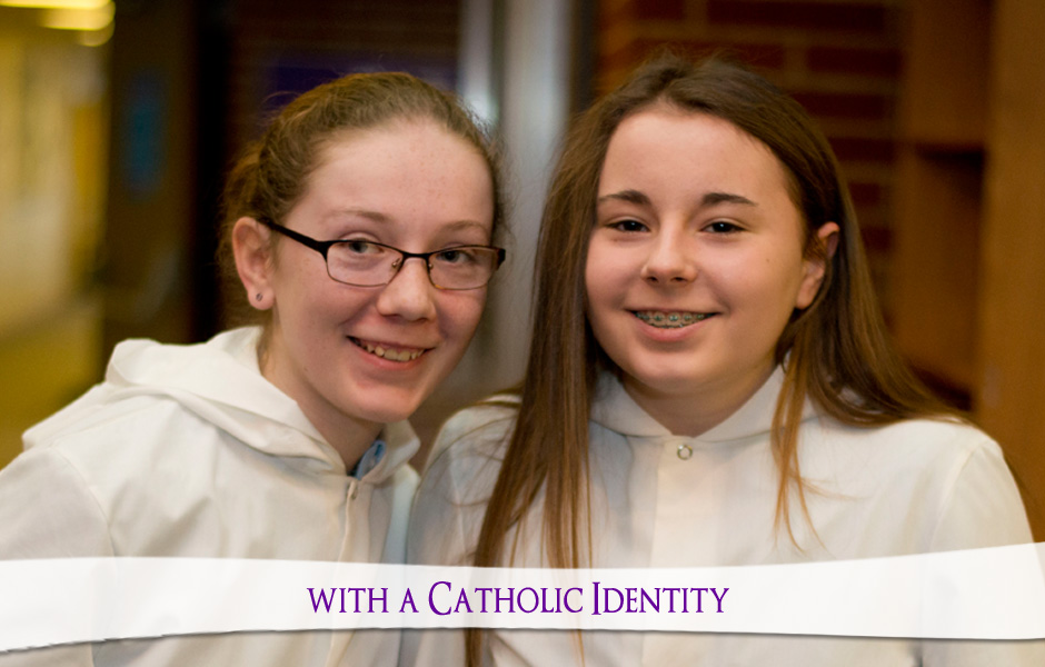 Two altar servers - Catholic identity of Holy Trinity Catholic School