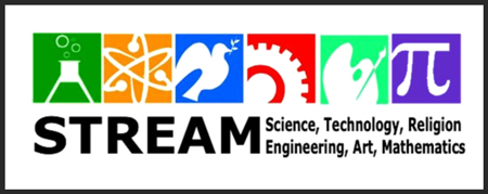 STREAM icon - Science, Technology, Religion, Engineering, Art and Mathematics