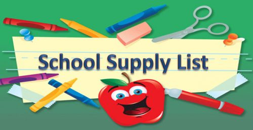 Graphic for School Supply ListSupply List