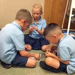 Students hard at work at Holy Trinity Catholic School