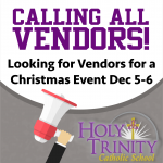 Calling All Vendors!  Join Us At HTCS'S:      Shop, Soup, & Sip  With St. Nick